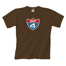 Tee shirt YCF Blason Marron YCF