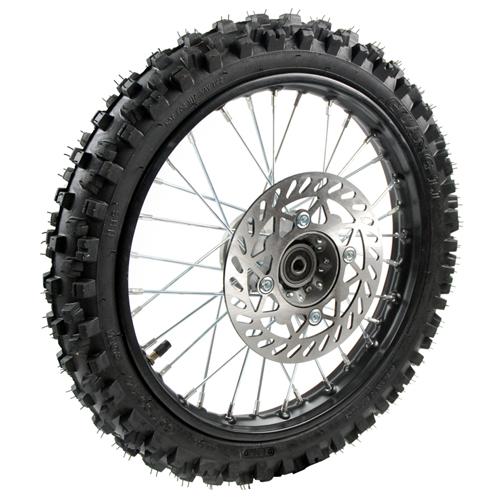 roue avant complete 14 pouces axe 12 mm pi ces dirt bike pit bike. Black Bedroom Furniture Sets. Home Design Ideas