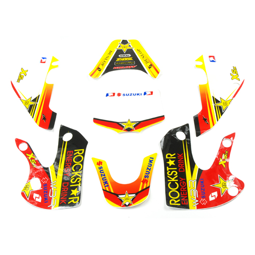 Kit deco autocollant ROCKSTAR KLX pour dirt bike