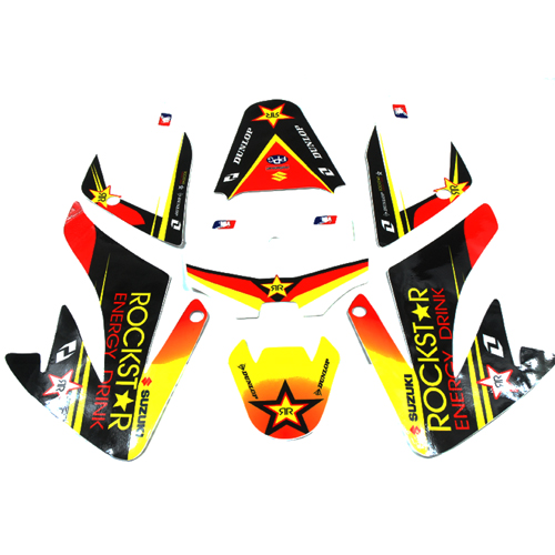 Kit deco rockstar CRF 70 pour dirt bike