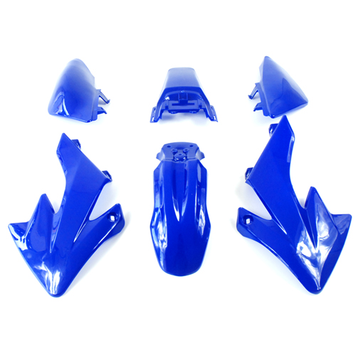 Kit plastique de dirt bike type CRF 50 bleu