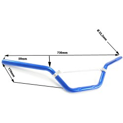 Guidon en alu bleu pour dirt bike