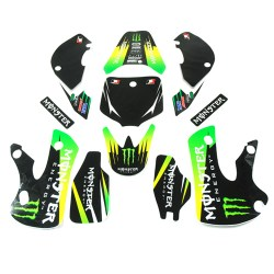 Kit deco monster vert type KLX pour dirt bike