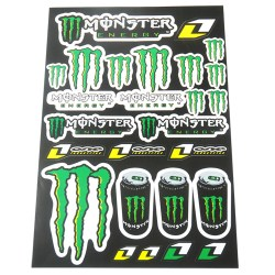 planche autocollants stickers monster energy