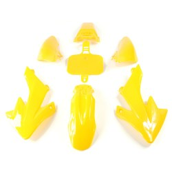 Kit plastique type CRF 50 jaune de dirt bike
