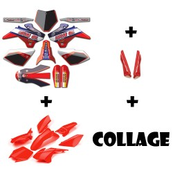 kit plastique YCF complet + kit deco Lucas Oil + collage