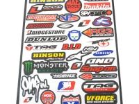 planche autocollant de marque de moto